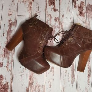 Bakers chunky high heel boots 8.5